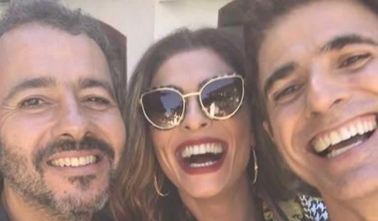 Gianecchini adora trollar Juliana Paes e Marcos Palmeira nos bastidores