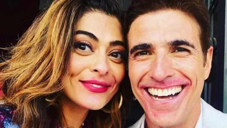 Gianecchini se diverte com boca borrada do batom de Juliana Paes