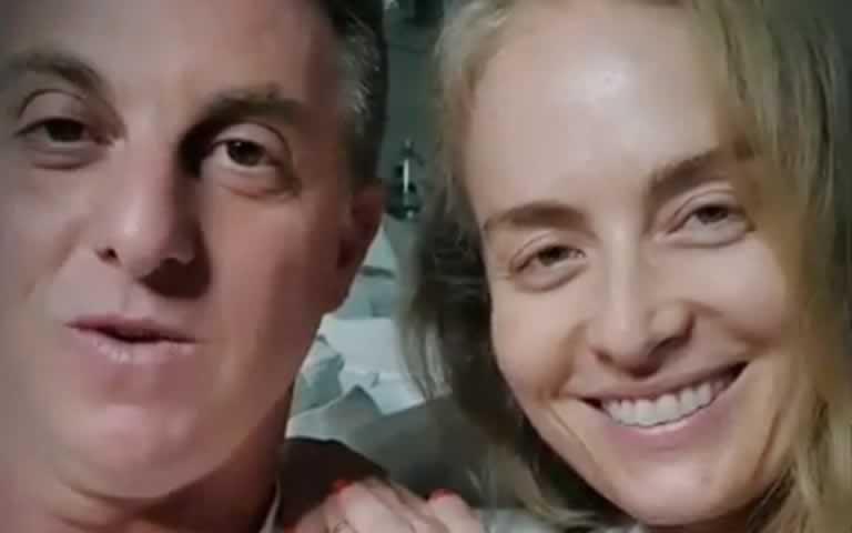 Luciano Huck e Angélica gravam vídeo de agradecimento aos fãs