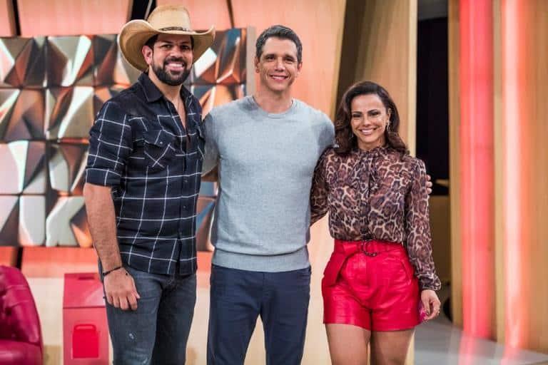 Márcio Garcia recebe Viviane Araújo e Sorocaba