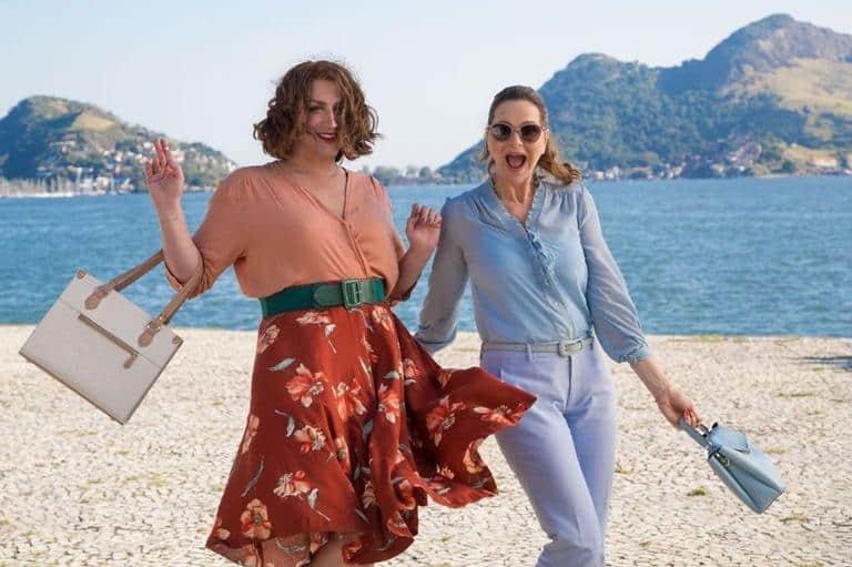 Paulo Gustavo e Alexandra Richter no set do filme 'Minha mãe é uma peça 3'
