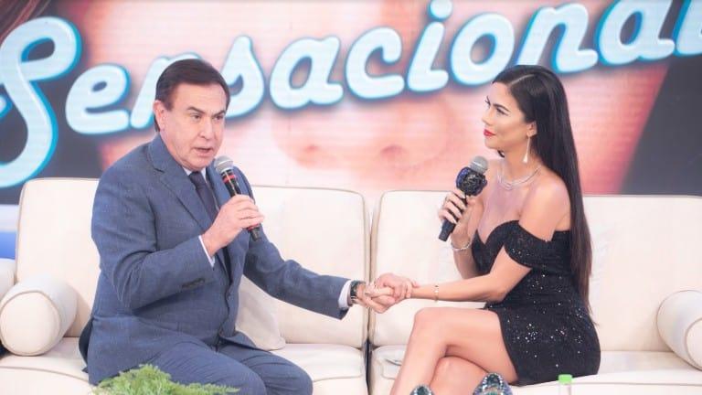 Amaury Jr. conversa com Daniela Albuquerque no Sensacional