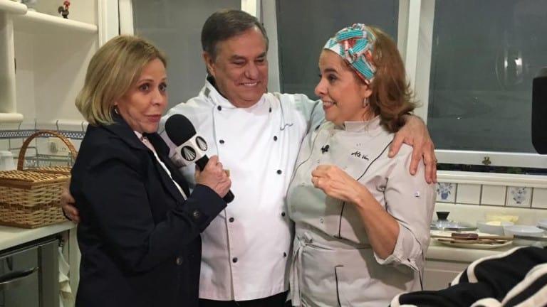 Claudete Troiano com Ronnie Von e a chef Alessandra Von