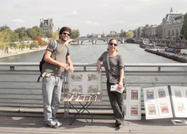 Cissa Guimarães e o saudosos filho Rafael em Paris, há 10 anos