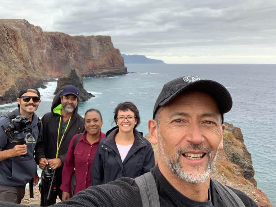 Equipe do 'Globo Repórter' na Ilha da Madeira