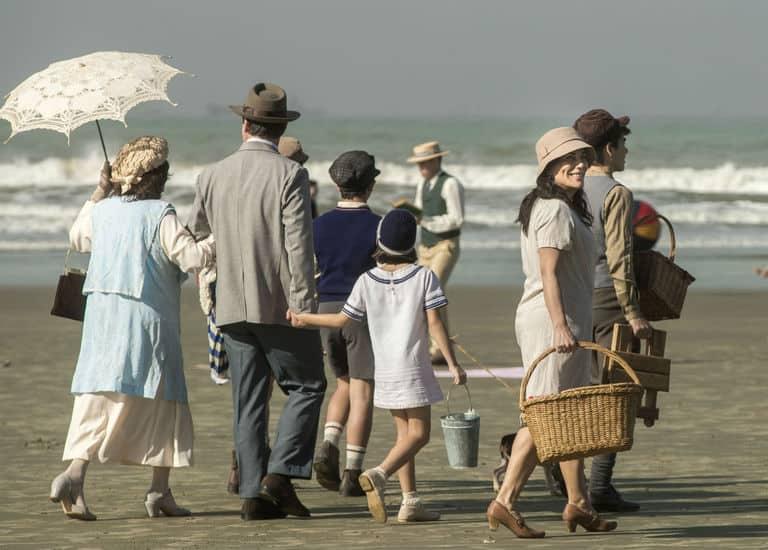 Família Lemos na praia de Santos