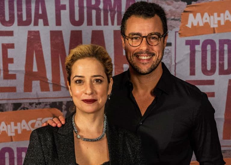 Lígia (Paloma Duarte) e Joaquim (Joaquim Lopes)