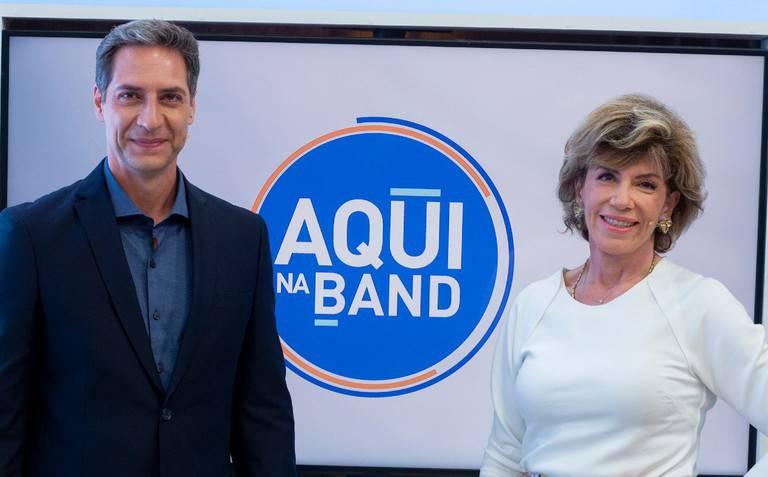 Luís Ernesto Lacombe e Silvia Poppovic comandam o Aqui na Band