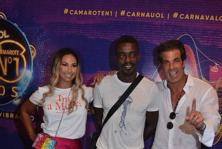 Valesca, Seu Jorge e Alvaro Garnero no Camarote Nº1