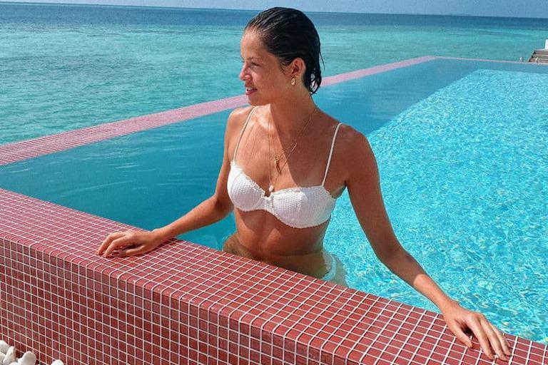 Agatha Moreira curte férias nas Ilhas Maldivas