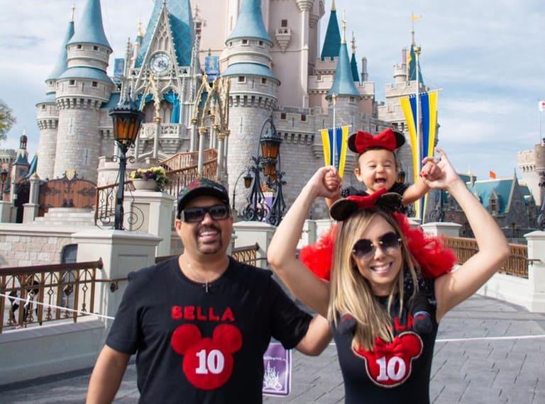 Edson e a família, na Disney