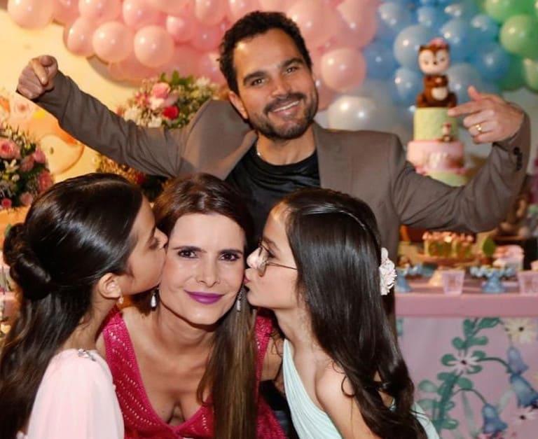 Luciano Camargo e a família em dia de festa