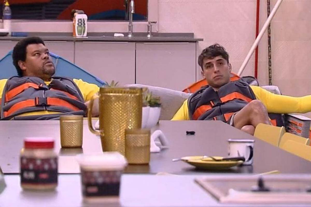 Babu Santana e Felipe Prior no Big Brother Brasil 20