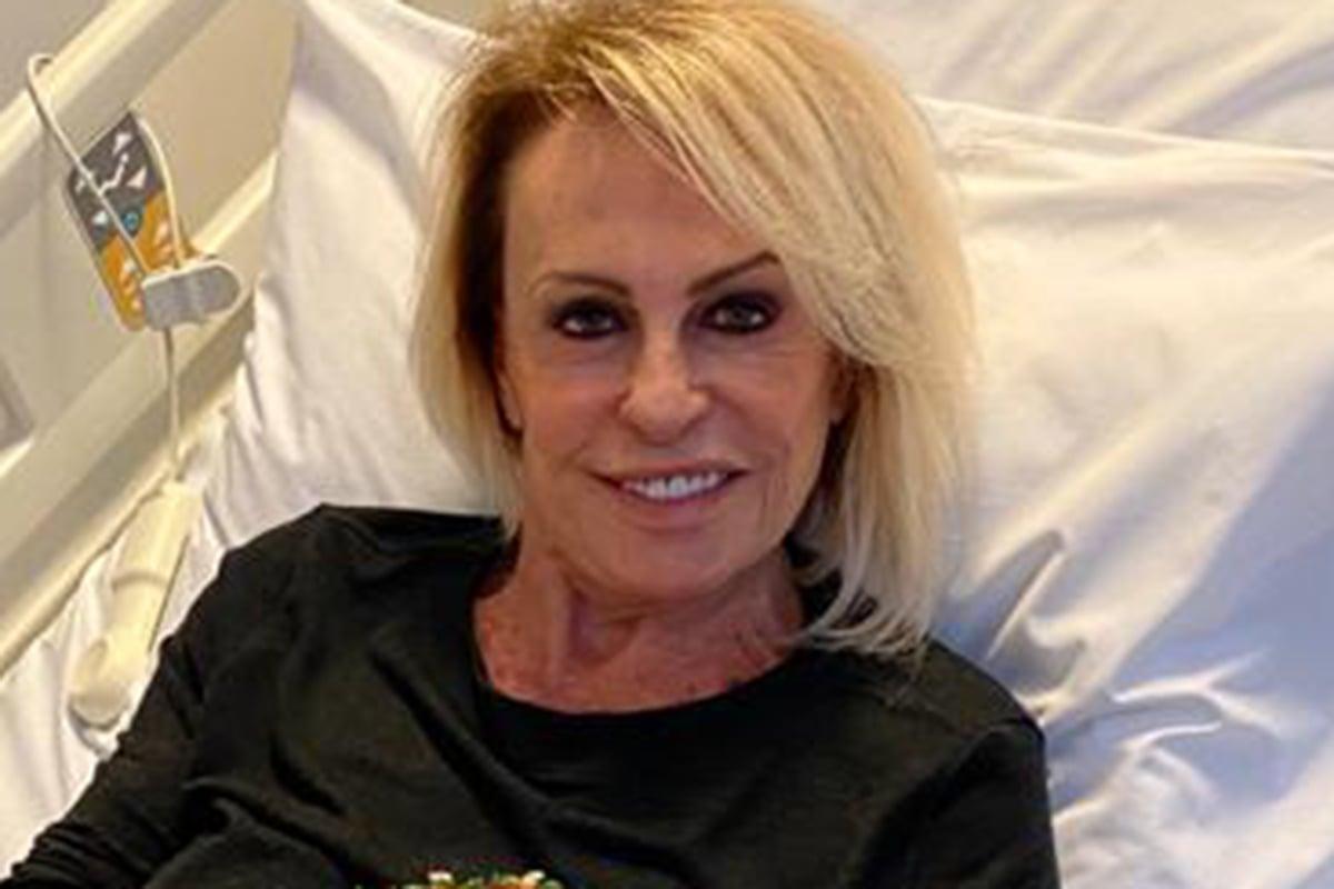 Ana Maria Braga aparece em cama de hospital