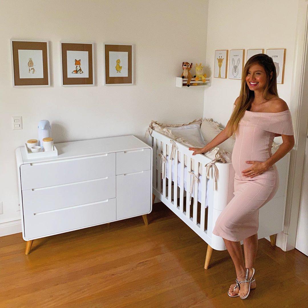 Esposa de Sorocaba mostra a decoração do quarto do primeiro filho