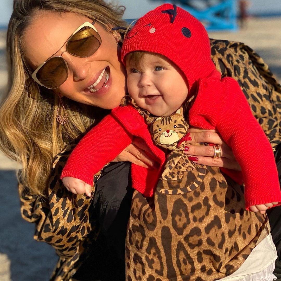 Claudia Leitte e a filha, Bela