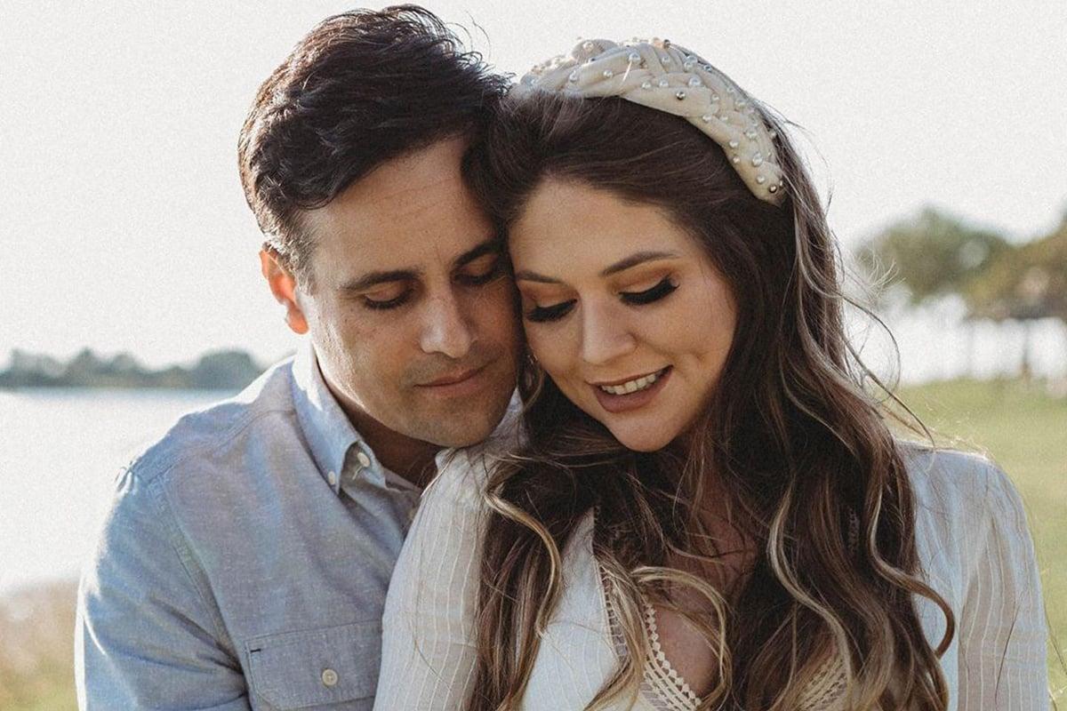 Rodrigo Scarpa e a esposa, Gabriela