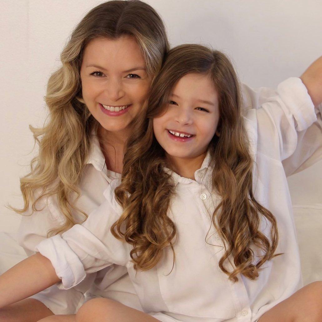 Bianca Castanho e a filha