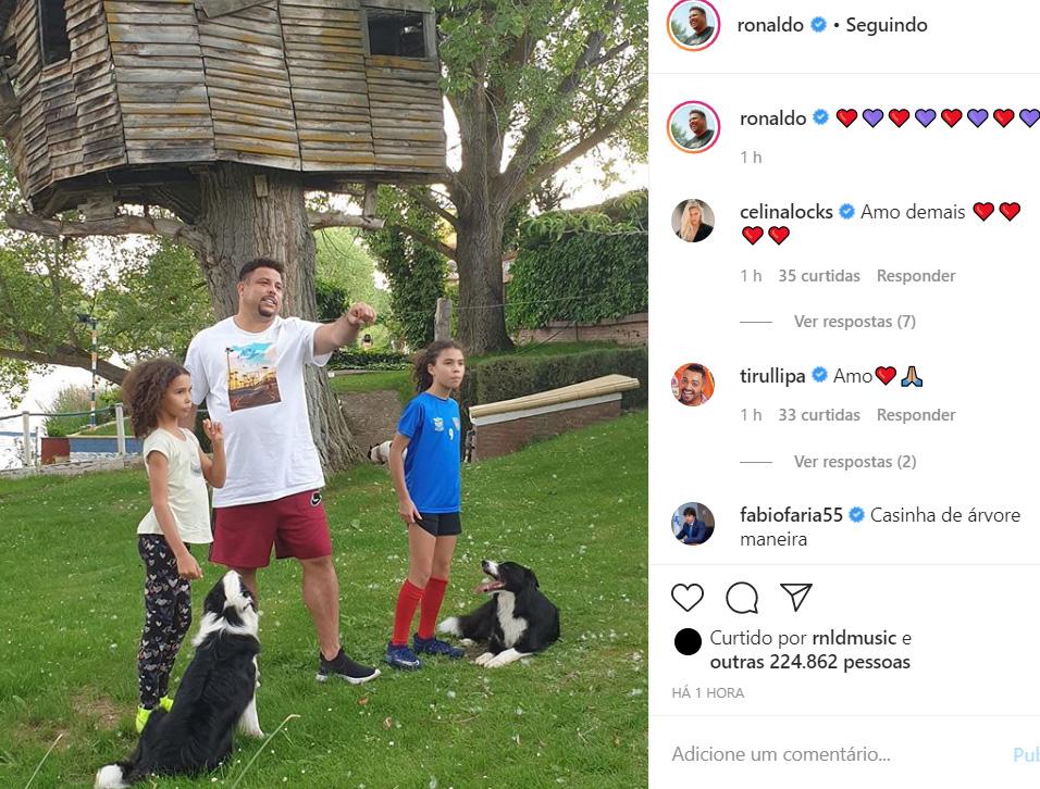 Ronaldo e as filhas