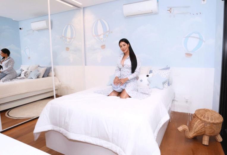 Simaria mostra os quartos dos filhos