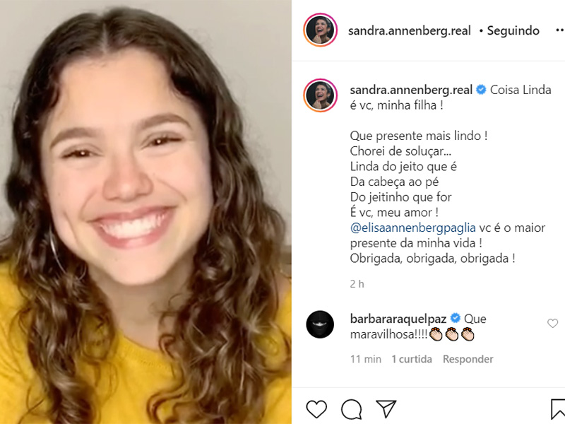 Elisa, filha de Sandra Annenberg
