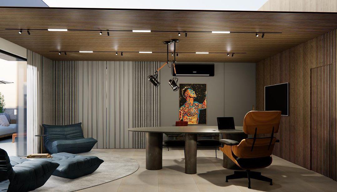 Lucas Lucco mostra a decoração do seu novo escritório