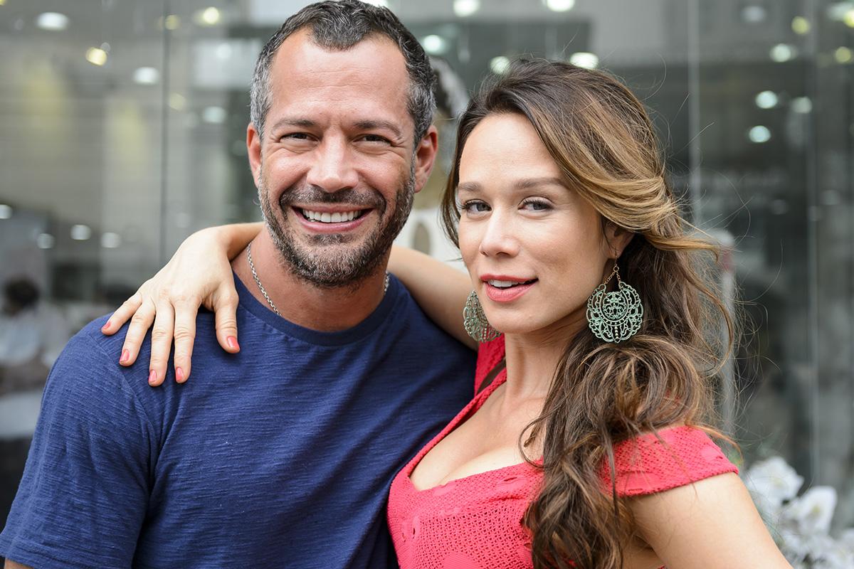 Tancinha (Mariana Ximenes) e Apolo (Malvino Salvador) na novela Haja Coração