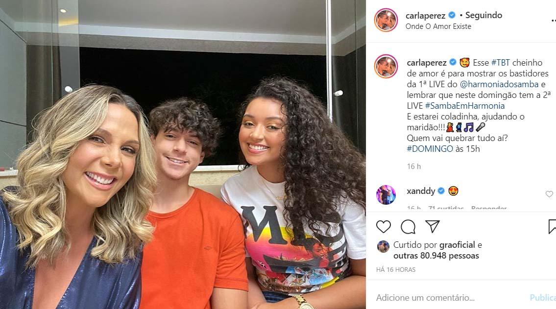 Carla Perez e os filhos