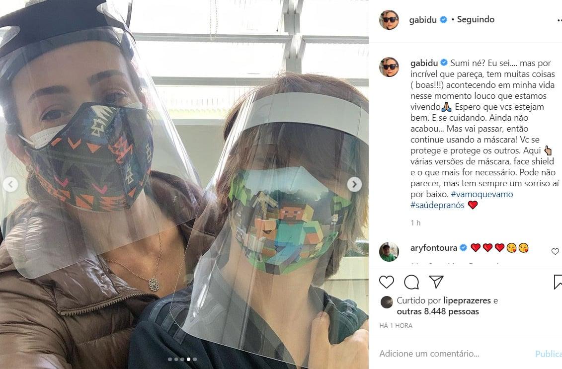 Gabriela Duarte e a família