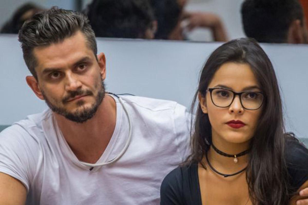 Marcos Harter e Emilly Araújo