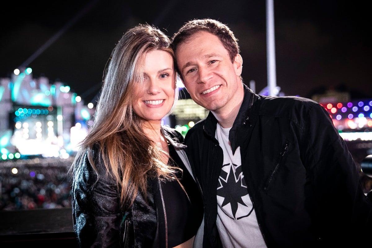 Daiana Garbin e Tiago Leifert