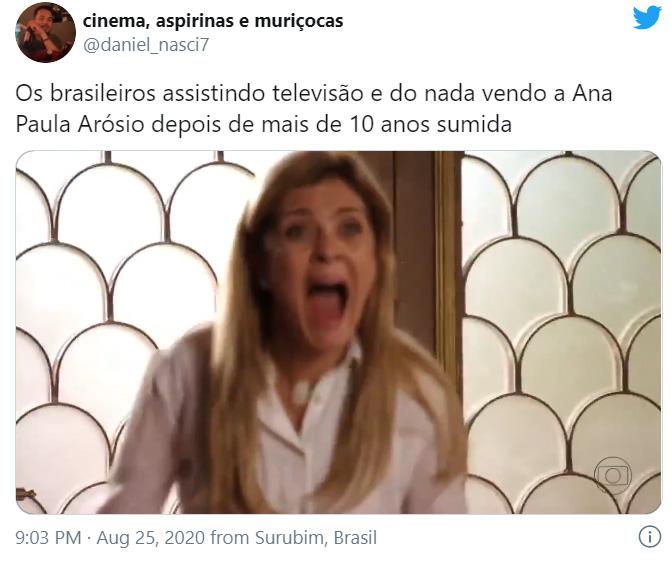 Tweets sobre a volta de Ana Paula Arósio