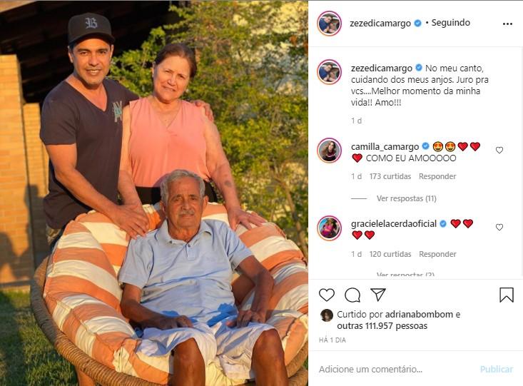 Em isolamento social com D. Helena e Seu Francisco em fazenda, sertanejo abre o coração sobre momento da vida nas redes sociais
