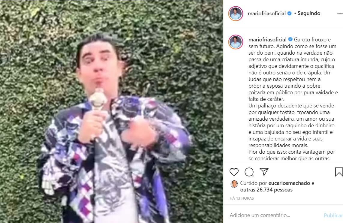 Mario Frias detona Marcelo Adnet