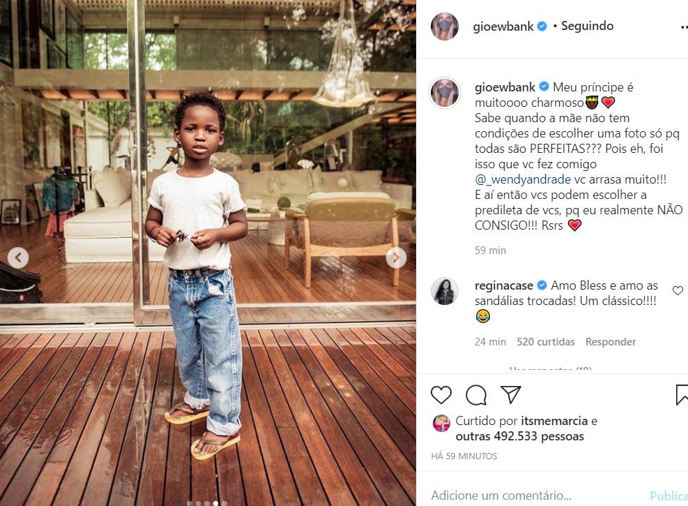 Bless, filho de Giovanna Ewbank e Bruno Gagliasso