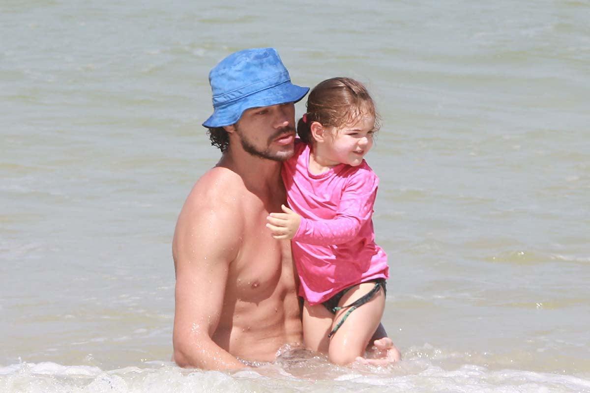 José Loreto e a filha, Bella