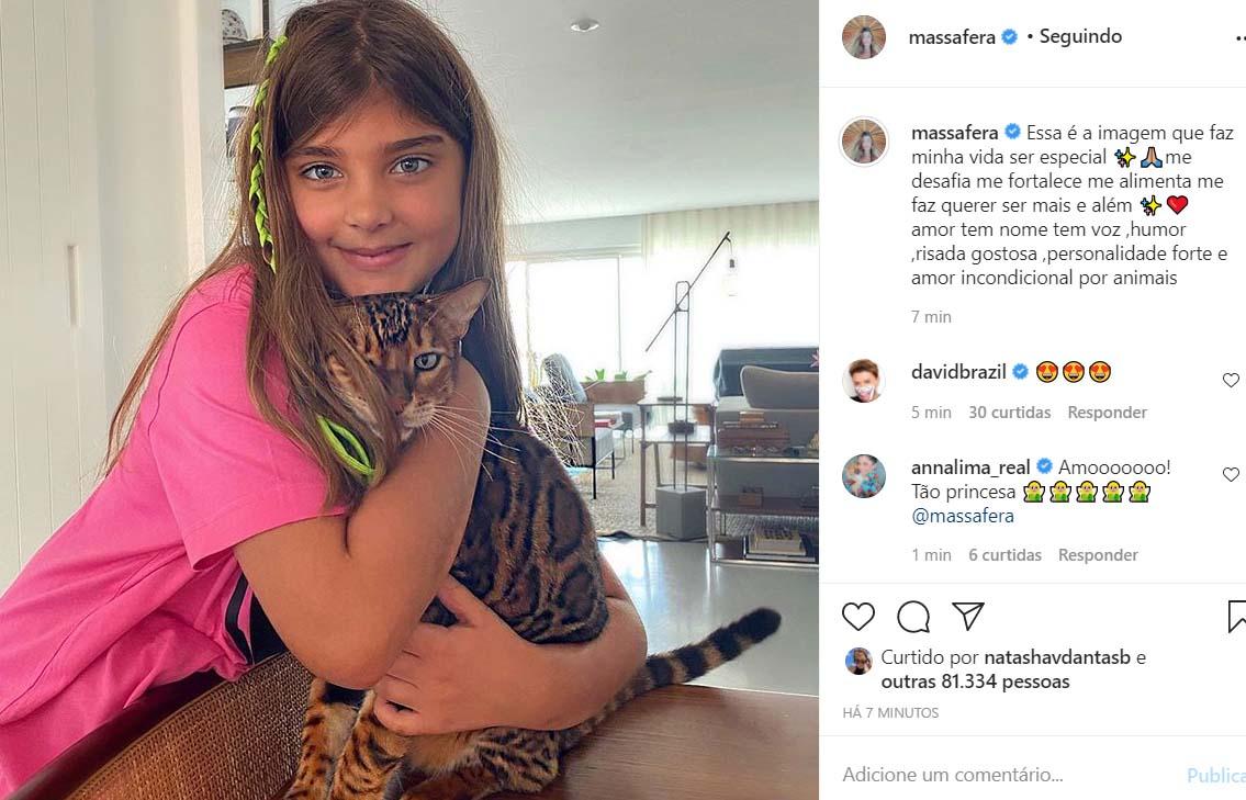 Sofia, filha de Grazi Massafera e Cauã Reymond