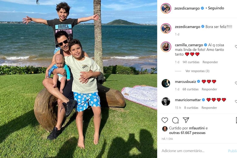 Zezé Di Camargo e os filhos