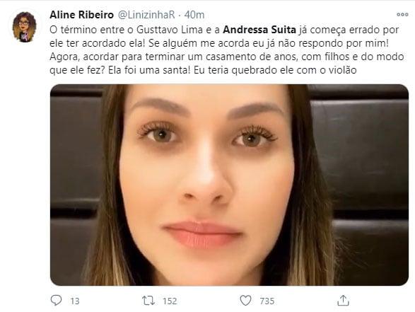 Fãs apoiam Andressa Suita