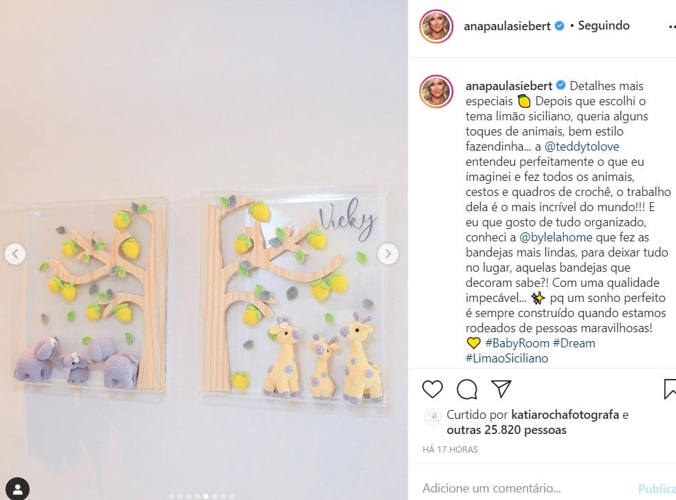 Ana Paula Siebert mostra o quarto da filha