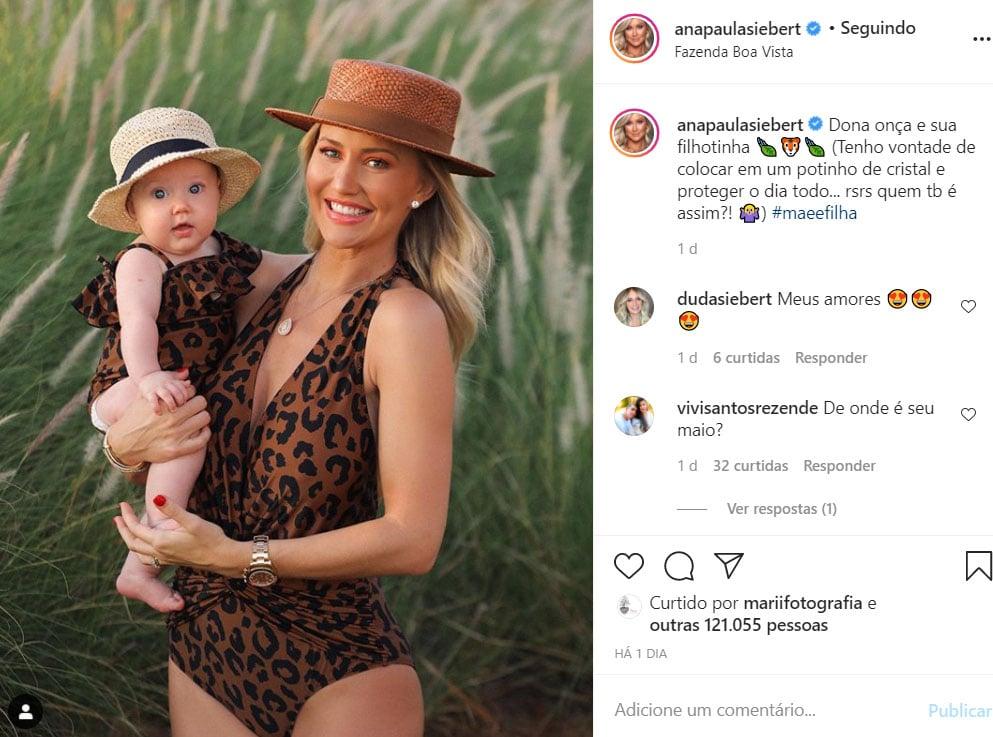 Ana Paula Siebert e a filha, Vicky