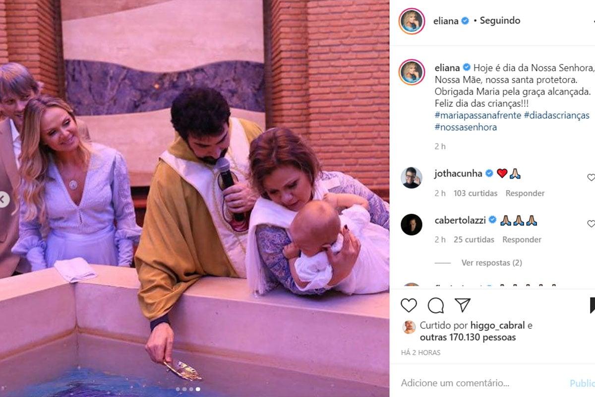 Batizado da Manuela, filha de Eliana e Adriano Ricco
