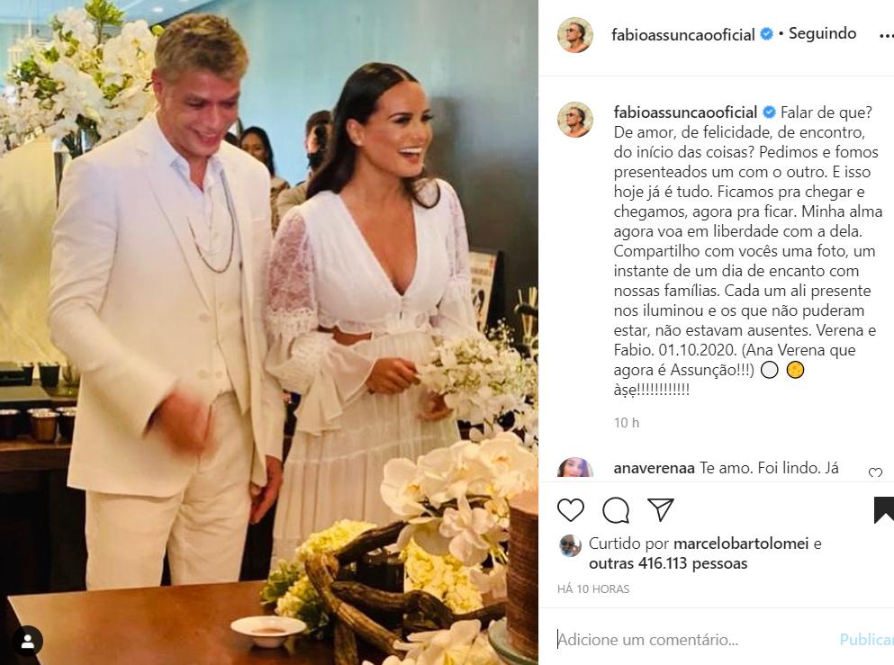 Casamento de Fábio Assunção e Ana Verena