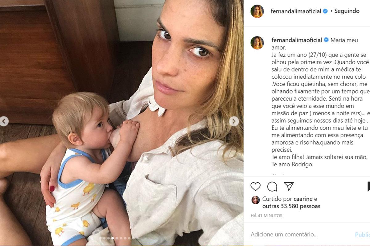 Fernanda Lima e a filha, Maria