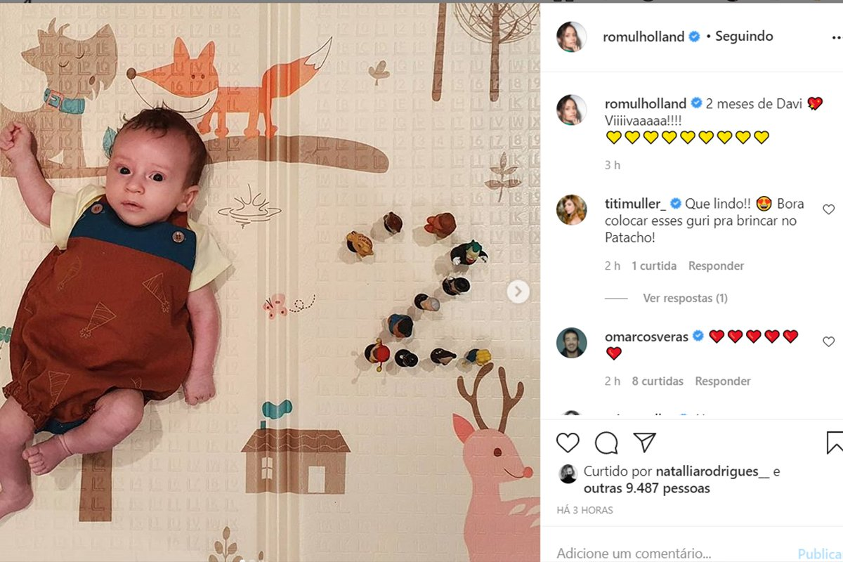 Filho de Marcos Veras e Rosanne Mulholland