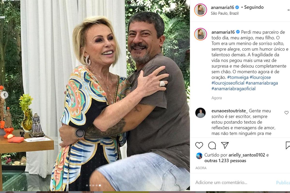Ana Maria Braga e Tom Veiga
