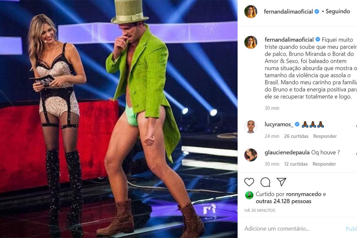 Fernanda Lima e Bruno Miranda, o Borat