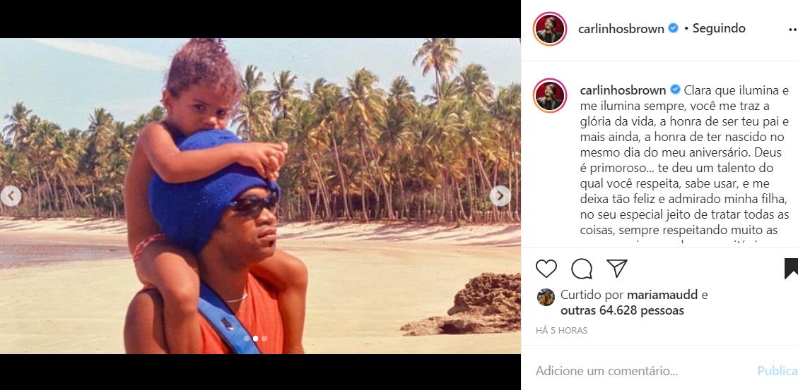 Carlinhos Brown e a filha Clara Buarque
