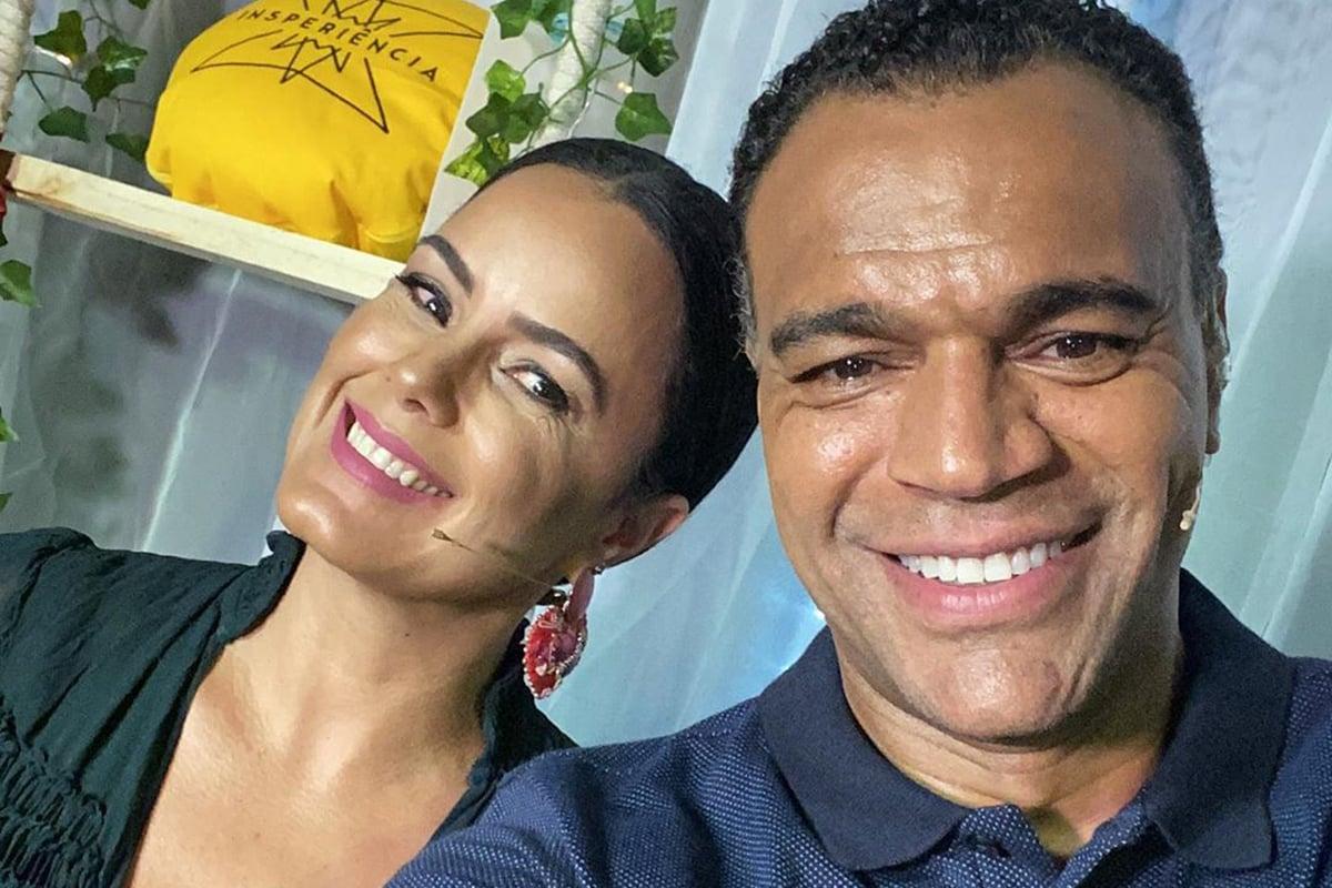 Luciele Di Camargo e Denílson