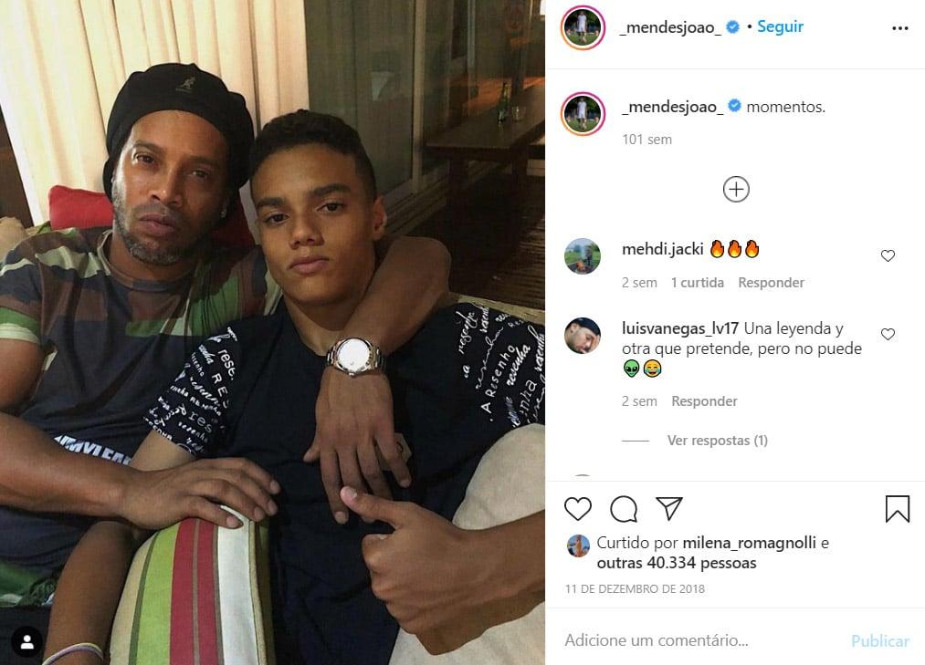 João, filho de Ronaldinho Gaúcho